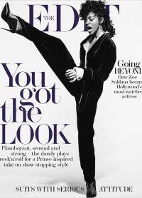 Зои Салдана на обложке журнала The Edit