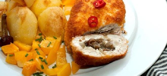 Zrazy mięsa z grzybami