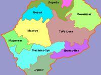 Цгутинг на карте Лесото