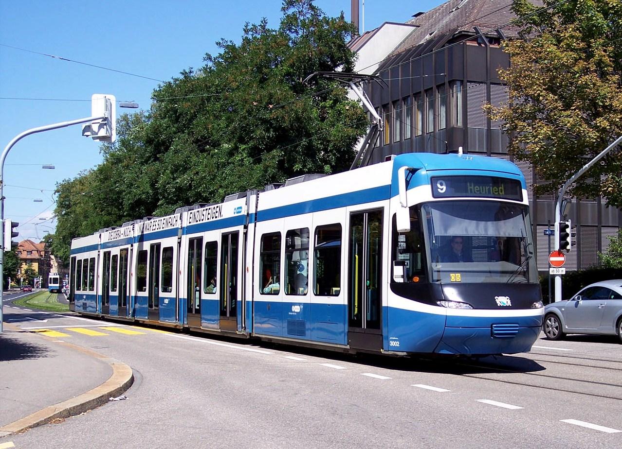 Трамвай в Цюрихе